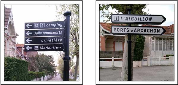 panneau signalisation ville d'arcachon après
