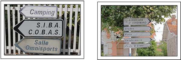panneau signalisation ville d'Arcachon avant