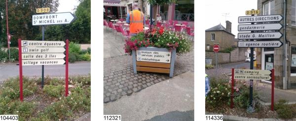 La Ferté Macé – Réception des premiers panneaux de signalisation