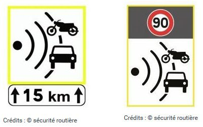 Panneaux de signalisation et radars : du nouveau pour les automobilistes et motards
