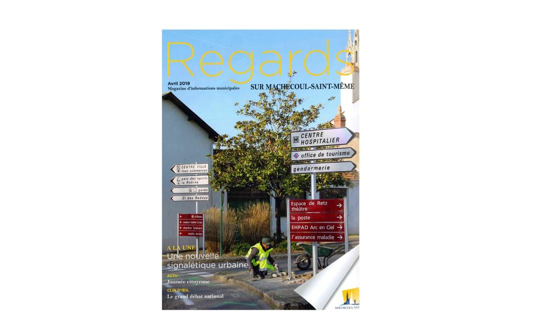 Nouvelle signalisation urbaine à Machecoul : AMOS à la une