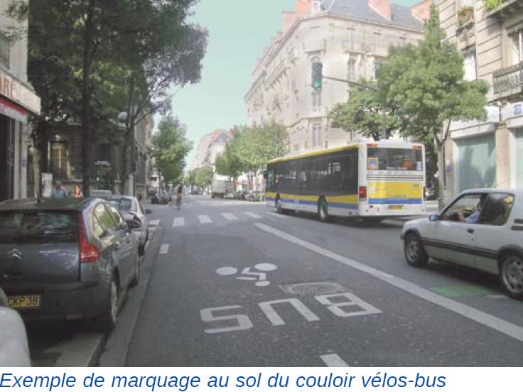 Jalonnement cyclable - couloir vélo-bus - Amos-Signalisation