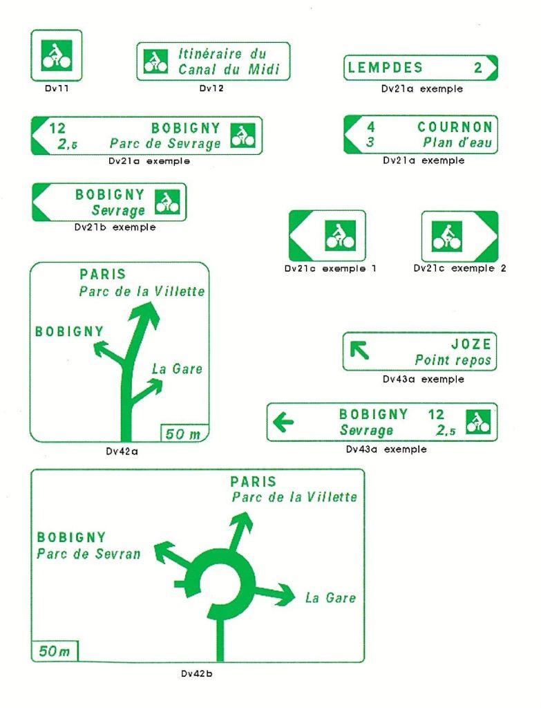 Jalonnement cyclable - signalétique directionnelle des voies cyclables - Amos-Signalisation