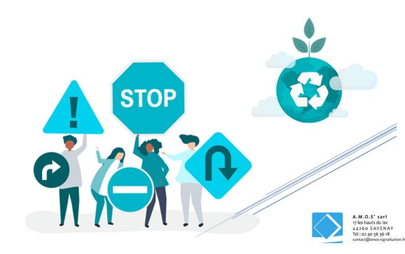 Préconisations éco-responsables en signalétique par Amos Signalisation