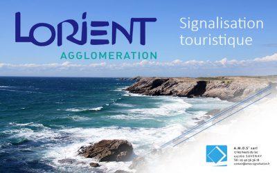 Réalisation d'un schéma directeur de signalétique touristique pour Lorient Agglomération.