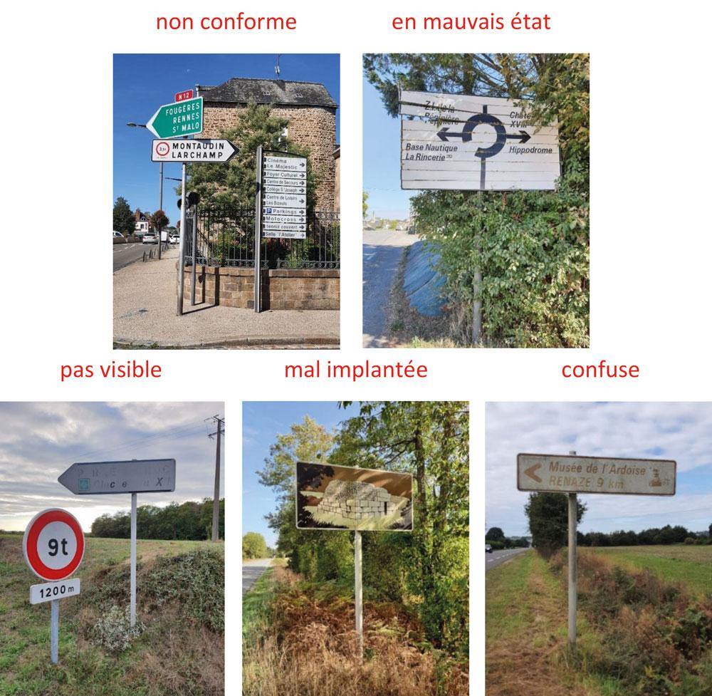 Exemples de signalisation non conforme